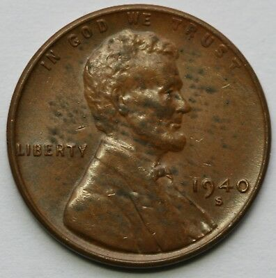 1940 S Lincoln Cent Extra Fine US Coin