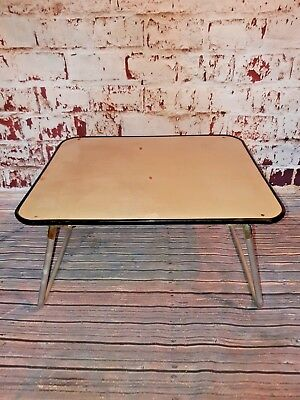 Vintage Retro Folding Portable Lap Tray Table VW Camping Picnic 1950S 60S