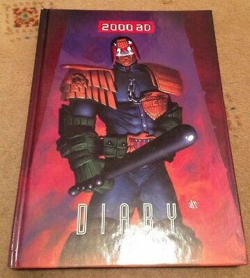 Official 2000 AD Comic Diary for year 2000 Ft Judge Dredd art & information New