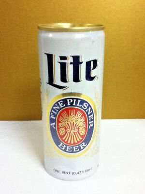 "Miller lite beer older aluminum pull tab can one pint Milwaukee WI  6.25""  X7"