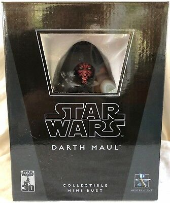 STAR WARS DARTH MAUL COLLECTIBLE LIMITED EDITION MINI BUST by Gentle Giant NIB