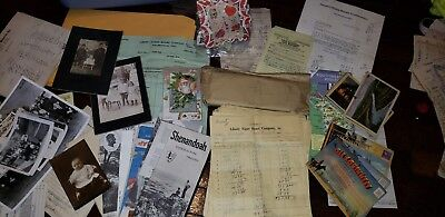 MIXED LOT VINTAGE PICTURES POSTCARDS EPHEMERA invoicesmap 1800's-1900's mystery