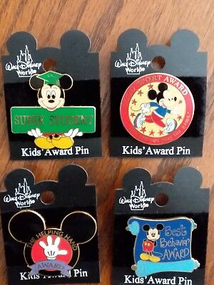 Disney 2002 Kid's Award Pins - You Choose From 4 Different
