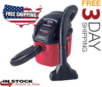 Shop-Vac 2021000 Wet/Dry Vac Portable Compact Vacuum with Collapsible Handle, Wa