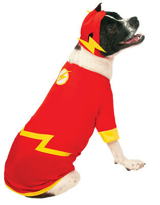 """Flash DC Comics Pet Dog Costume,Small, Neck to Tail 11"""", Chest 17"""""""