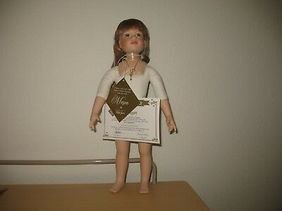"Magic Attic Meghan Porcelain doll. 18"" Slim. Nude. Numbered With COA."