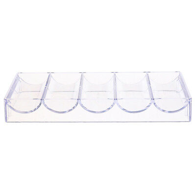 Transparent Acrylic Poker Chips Tray Display Case Box 100 Chips - No Lid