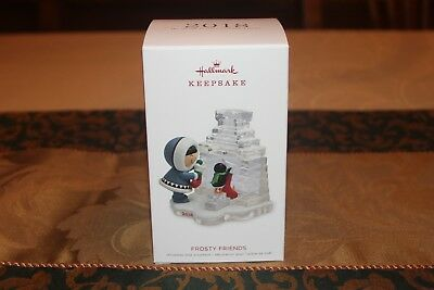 2018 Hallmark Frosty Friends 39th in Series Hanging Stockings Ornament New