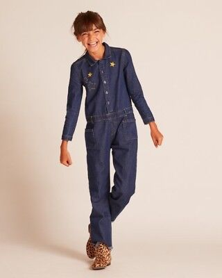 50% OFF Rare BNWT Wild and Gorgeous Betty Blue Denim Playsuit - Age 6-7