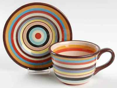 Tabletops Unlimited SEDONA STRIPE Cup & Saucer 8287827