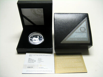 2017 South Africa Silver Krugerrand PROOF - Box & COA - FREE SHIPPING! - #10019