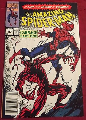Amazing Spiderman #361 1st App Carnage Newsstand Cover [Marvel comics]