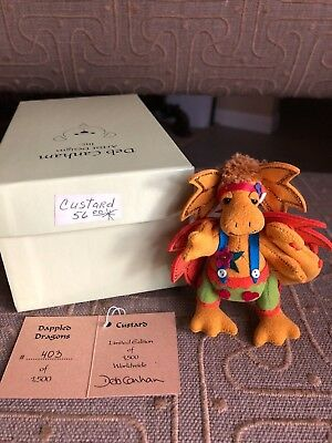 Deb Canham Custard Dappled Dragon Limited Edition 403 of 1500 miniature bear