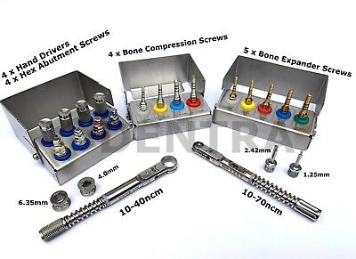 Bone Expander Compression Screw Drivers&Torque Wrench Ratchet Dental Implant Set
