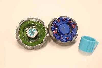 BEYBLADE HASBRO Metal Fusion LOT of 2 Leone & Fox NO LAUNCHER Masters 4D burst