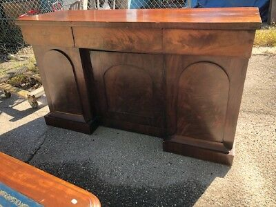 Antique Mahogany Server, Sideboard ,Buffet 3 Doors and Drawers English Victorian