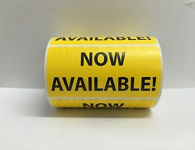 """Yellow NOW AVAILABLE Shipping Special Handling Labels (4"""" x 2"""", 500/Roll)"""