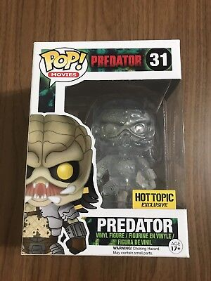 Funko Pop! Movies #31 CLEAR BLOODY PREDATOR Hot Topic Exclusive