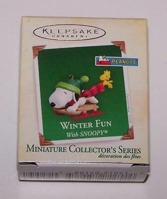 2005 Hallmark Miniature Ornament - Winter Fun with Snoopy - 8th in Series