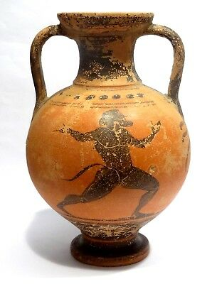 Pelike Grec Satyre - Attic 500 Bc - Ancient Greek Apulian Red Figure Oinochoe