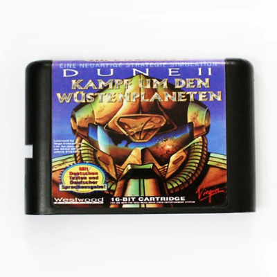 Dune 2 16 bit MD Game Card For Sega Mega Drive