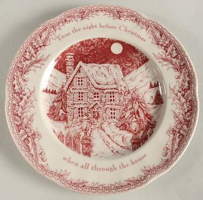 Noble Excellence TWAS THE NIGHT BEFORE CHRISTMAS Imperfect Dinner Plate 10874722