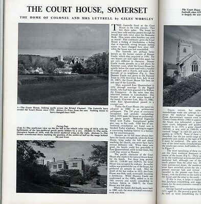 1987 COUNTRY LIFE Magazine TYNINGHAME Court House Quantoxhead STOURHEAD (3400)
