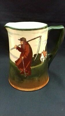 Royal Doulton Jug Old Man Time Man With Sythe Farm Worker