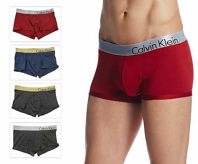 Calvin Klein Men's Boxer Bold CK U8964 Micro Gold Low Rise Red Black Silver L