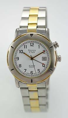 Sierra Club Men's Two-Tone Stainless Steel Band Water Resistant Quartz Watch