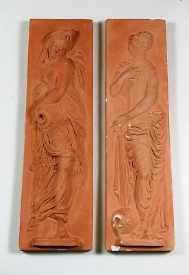 Louvre products: Pair of plaster wall plaques of classical friezes.
