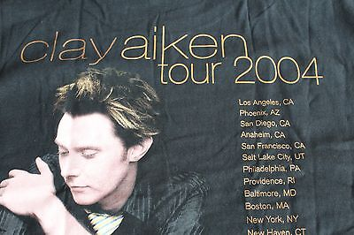 Clay Aiken / TOUR T-SHIRT / 2004 Tour - Size L -