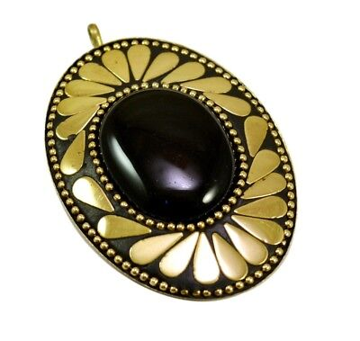 Ethnic Antique Vintage Boho Hippie Brass Plated Designer Jewelry Pendant P-538