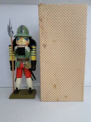 Erzgebirge Guard with Helmet Nutcracker with box made in Germany GDR