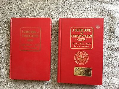 2 ~ Official New Red Book Guide of United States US Coins ~ 1966 & 1989 ~ HC G