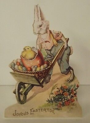 Bethany Lowe Easter Dummy Board Bunny With Cart RL6567 Vintage Look New