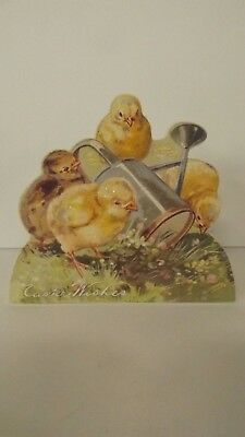 Bethany Lowe Easter Chicks With Watering Can Dummy Board RL6566 New
