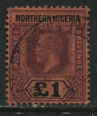 Northern Nigeria KGV 1912 £1 used