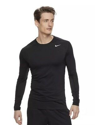 NWT Men's Nike Dri-Fit Base Layer Fitted Cool Top Shirt - Black