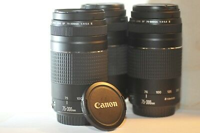 Canon EF 75-300mm f/4-5.6 III FX lens NICE for EOS A2 Rebel T6 60D 5D 7D 70D 80D