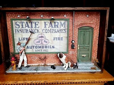 "State Farm Insurance ""Big Dog Off The Porch"" 3D Wall Mount by Michael Garman"