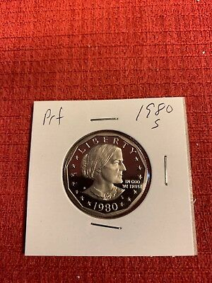 1980-S & 1981-S Type 1 Susan B Anthony Dollar Proofs