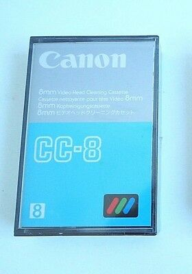 Canon CC-8 8mm Video Head Cleaning Cassette Tape New Sealed