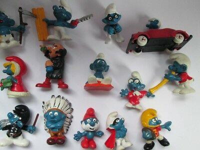Smurf pitufo Schlumpf plastic toys schleich 1970's 1980's esci puffi and others