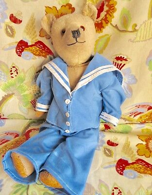 Antique 1930s chiltern teddy bear in later sailor outfit
