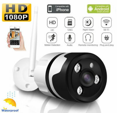 WiFi CCTV IP Camera Outdoor Wireless System Home Office Security Bullet Cam 720P