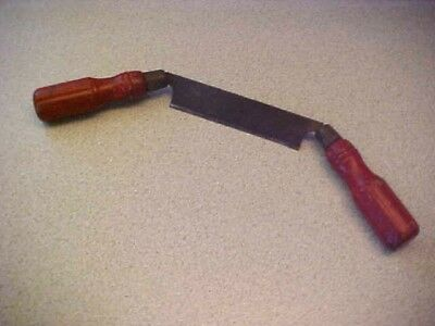 Vintage Small Size  Woodworking Draw Knife W/red Wood Handles-4 Inch Blade