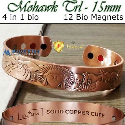 Pure Solid Copper Indian Bio Magnetic Bracelet Men Arthritis Cb55V