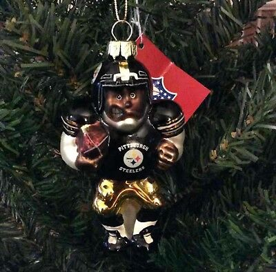 Pittsburgh Steelers Christmas Ornament Glass Blown
