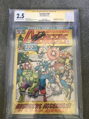 STAN LEE Signature Series CGC 2.5 Autographed AVENGERS 100 Signed SS Barry Smith